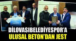 Ulusal Beton'dan Dilovası Belediyespor'a Destek!