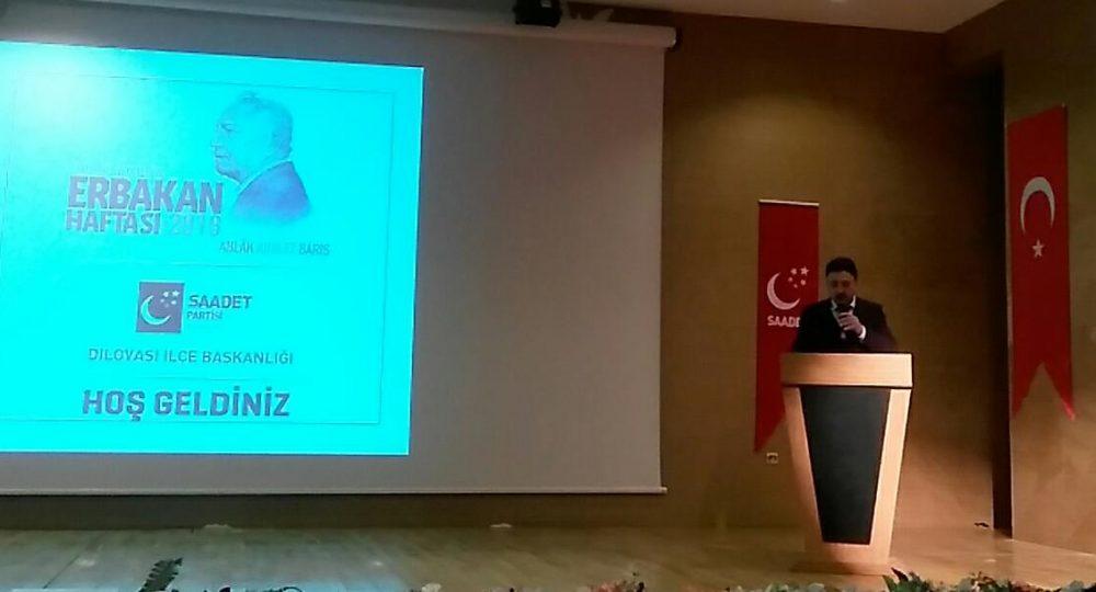 Saadet partisi Dilovası İlçe Başkanı Mustafa Türel'in Konuşması