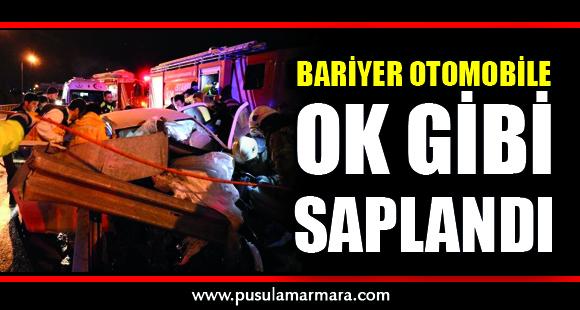 Bariyer Otomobile Ok Gibi Saplandı: 2 Yaralı - 24 Ocak 2019 14:18
