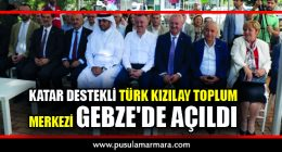 Katar destekli Türk Kızılay Toplum Merkezi Kocaeli'de açıldı