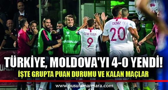 Türkiye, Moldova'yı 4-0 yendi! İşte grupta puan durumu ve kalan maçlar - 11 Eylül 2019 10:33