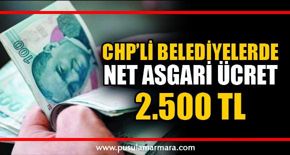 Son Dakika: CHP'li belediyelerde net asgari ücret 2.500 TL'ye yükseltiliyor - 17 Ocak 2020 13:41