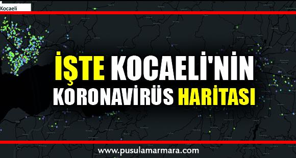 İşte Kocaeli'nin koronavirüs haritası! - 8 Nisan 2020 15:35