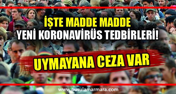 Son dakika: Türkiye'de koronavirüs salgınını önlemek amacıyla 4 yeni tedbir alındı - 3 Nisan 2020 21:17