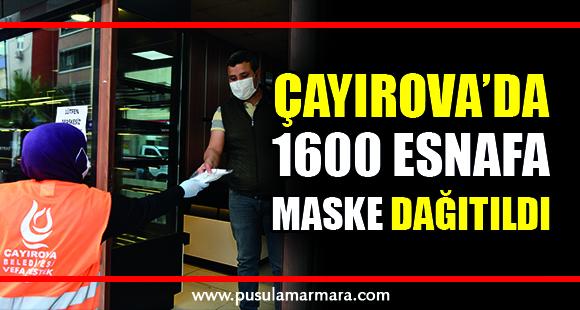 Çayırova'da 1600 esnafa maske - 5 Mayıs 2020 23:23