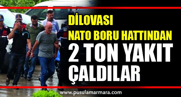Kocaeli'de NATO boru hattından 2 ton yakıt çalan 5 kişi yakalandı