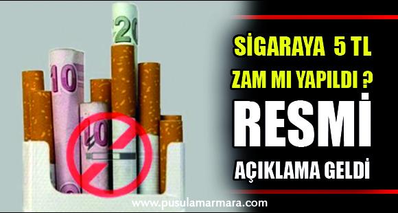 """""""Sigaraya 5 TL zam yapıldı"""" iddiası…"""