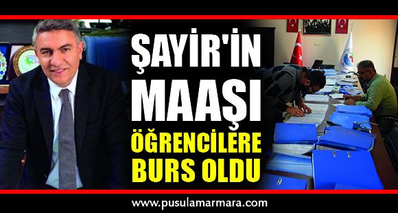 """BAŞKAN ŞAYİR:"""" EĞİTİME DESTEK ÖNCELİĞİMİZ"""""""